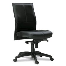 Silhouette Mid-Back Leather Office Chair