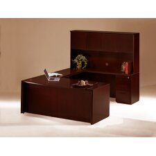 <strong>Mayline Group</strong> Corsica Executive Suite with Wood Door Hutch