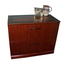 <strong>Mayline Group</strong> Sorrento 2-Drawer Lateral File Cabinet in Espresso Or Bourbon Cherry