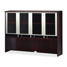 "51"" H x 63"" W Glass Door Desk Hutch"