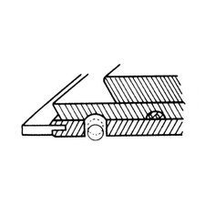 Straightedge E-Z Grip Cap Delrin Plastic Roller