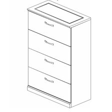 Sorrento 4-Drawer Lateral File