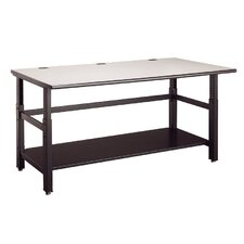"Techworks Network Enclosures and Racks: 60"" x 36"" Adjustable Table with Worksurface"