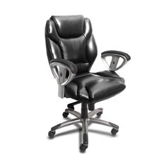 <strong>Mayline Group</strong> 300 Series Mid-Back Leather Swivel / Tilt Office Chair with Arms
