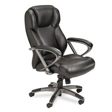 <strong>Mayline Group</strong> High-Back Leather Swivel / Tilt Chair with Arms