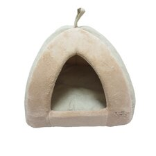 Coral Fleece Tent Dog Dome