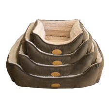 Faux Leather Square Dog Bed
