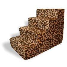 Animal Print 4 Step Pet Stair