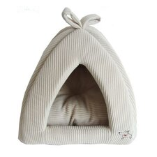 Pet Tent Bed in Beige Corduroy