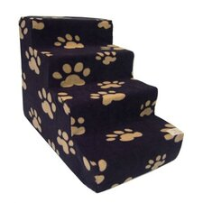 Pet Stairs in Black Fleece
