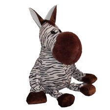 Bungee Zebra Plush Dog Toy