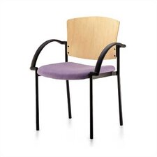 Convex Staxx Stacking Chair (Upholstered Seat with Wood Back)