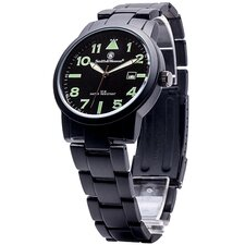 Pilot Men's Round Face Link Watch
