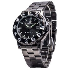 <strong>Smith & Wesson</strong> S.W.A.T. Men's Round Face Link Watch
