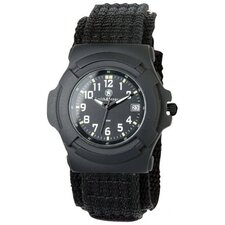 Lawman Men's Round Face Back Glow Watch