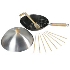 Spice 34 cm Heavy Gauge Non Stick Wok Set  Wood Handle