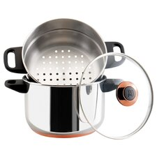 <strong>Paula Deen</strong> 3 Qt. Saucepot With Steamer Insert in Stainless Steel