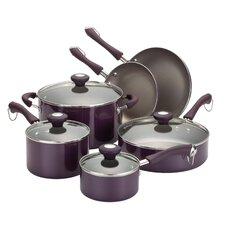 Porcelain Enamel Aluminum 10-Piece Cookware Set