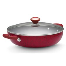 "Porcelain 12"" Non-Stick Skillet with Lid"