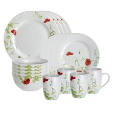 <strong>Paula Deen</strong> Signature Poppy Valley 16 Piece Dinnerware Set
