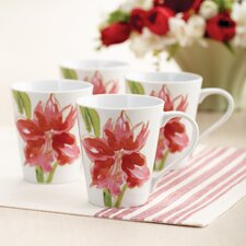 <strong>Paula Deen</strong> Signature Amaryllis 11 oz. Mug (Set of 4)