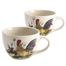 Signature Southern Rooster Jumbo Mug (Set of 2)