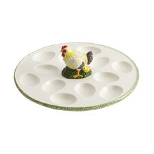 Signature Southern Rooster Round Egg Tray
