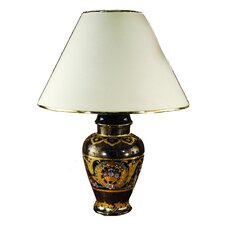 Stunning Painted Design on Cobolt Blue Base Table Lamp