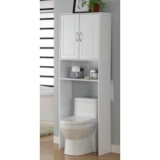 "Storage and Organization 24.38"" x 71.5"" Over the Toilet Cabinet"