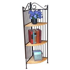 "Wicker Corner 43.3"" Bookcase"