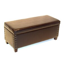 <strong>4D Concepts</strong> Wood Entryway Storage Ottoman