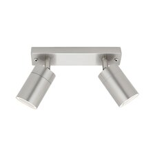 Oslo 2 Light GU10 Rail Exterior Lighting in 304 Stainless Steel