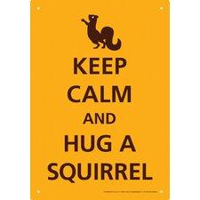 Keep Calm Squirrel Tin Sign Textual Art