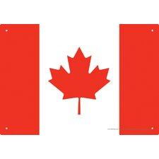 Canada Flag Tin Sign Graphic Art