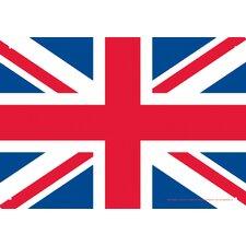UK Flag Tin Sign Graphic Art