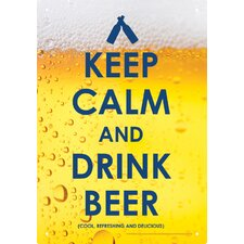Keep Calm Beer Tin Sign Textual Art