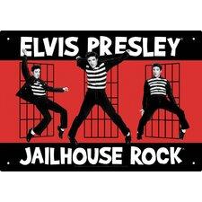 Elvis Jailhouse Tin Sign Vintage Advertisement