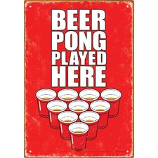 <strong>NMR Distribution</strong> Beer Pong Played Here Tin Sign