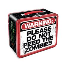Zombie Warning Lunch Box