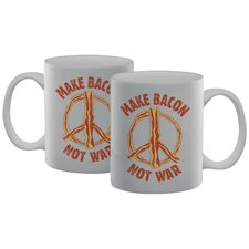Make Bacon Not War Mug