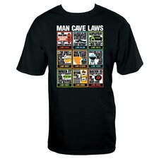 Man Cave Laws T Shirt