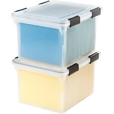 Letter/Legal Weather Tight File Box with Latches and Foam Seal (Set of 6)