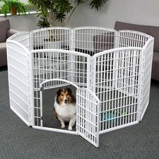 "34"" Indoor/Outdoor Plastic Pet Pen"