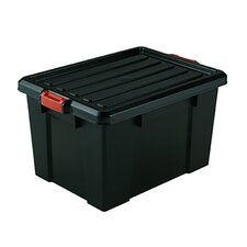 <strong>Iris</strong> Stor-It-All-Pro Series Extra Large Storage Tote in Black with Red Buckles - 4 Piece Set