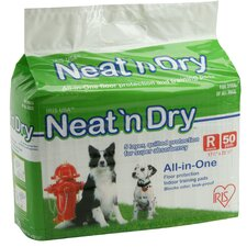 <strong>Iris</strong> Neat 'n Dry Training Pads for Puppies and Dogs (50 Pack)