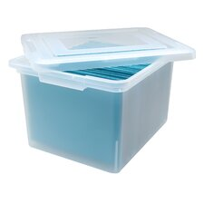 File Storage Box in Clear - 6 Piece Set