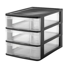 3 Drawer Front Load Desktop Organizer
