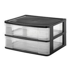 2 Drawer Side Load Desktop Organizer