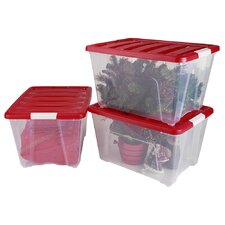 Holiday Plastic Storage (Set of 3)