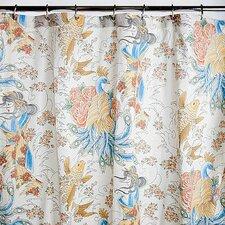 Geisha Garden Cotton Sateen Peacock Shower Curtain